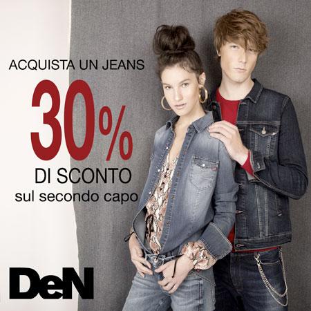 Acquista un jeans ottieni 30% di sconto sul secondo capo!