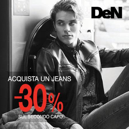 Da DeN acquistando un jeans ottieni 30% di sconto sul secondo capo. Approfittane!